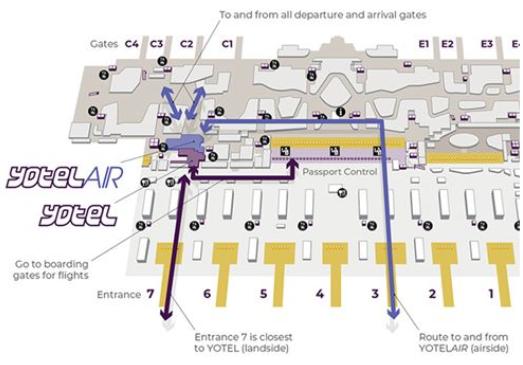 イスタンブール空港ホテルYOTELへのアクセス方法