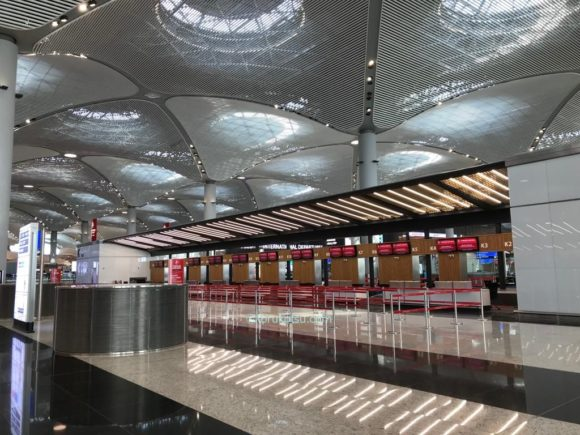 イスタンブール空港チェックインカウンター