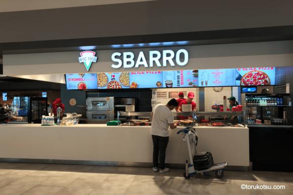 イスタンブール空港 国際線出発口付近上階にある【SBARRO】