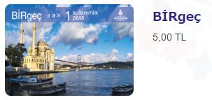 イスタンブールカード1回券