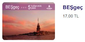 イスタンブールカード5回券