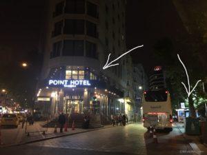 HAVAIST乗り場から至近距離!タクシム広場近くのPOINT HOTEL TAKSIM