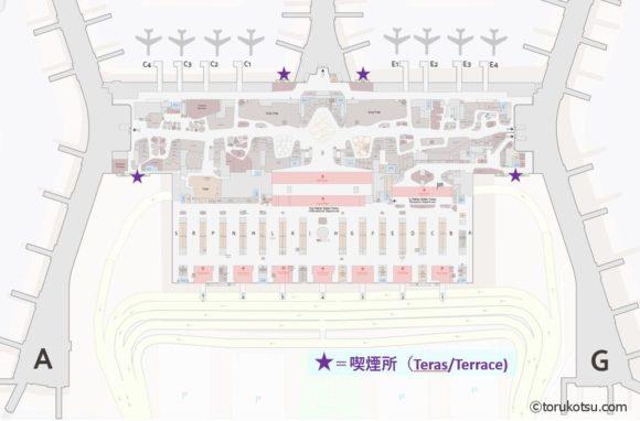 イスタンブール空港 喫煙所マップ