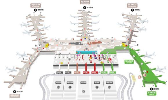 イスタンブール空港内マップ*出発階
