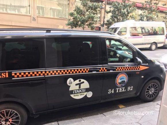 イスタンブールの黒色タクシー