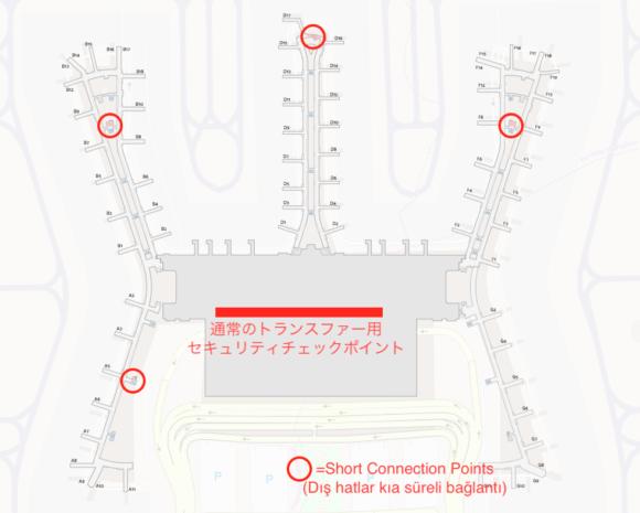 Short Connection Points(Dış hatlar kıa süreli bağlantı)の地図