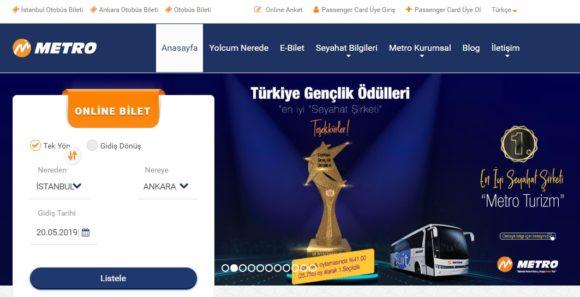 トルコの長距離バス会社 MetroTurizm