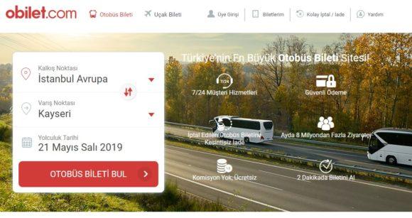 トルコの長距離バス総合検索サイト Obilet