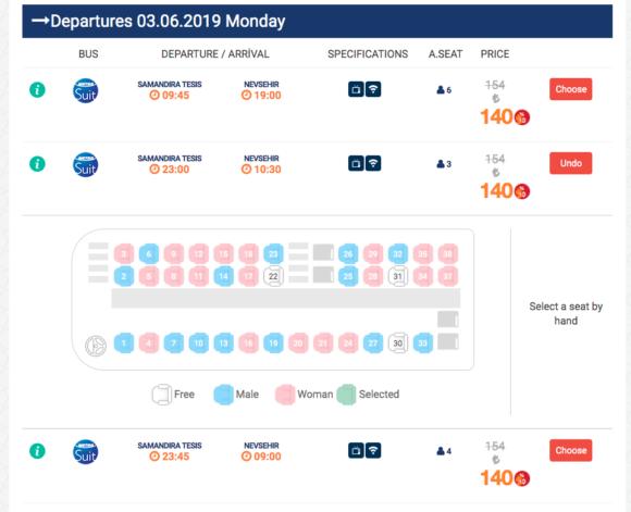 イスタンブールの長距離バス会社Metro Turizmのオンラインバスチケット購入方法