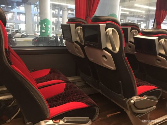 イスタンブール空港バス Havaistの車内