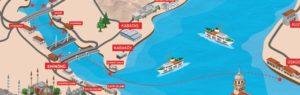 イスタンブール金閣湾の船