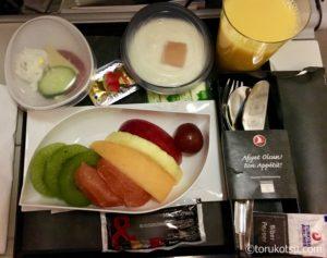 トルコ航空機内食【フルーツプレート】