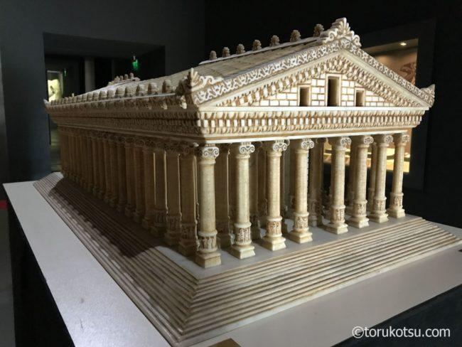 【世界遺産エフェソス観光】アルテミス神殿模型