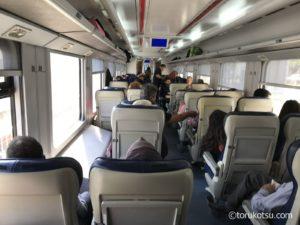 国鉄TCDDセルチュク行の列車内