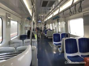 Izbanのセルチュク行き列車内