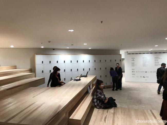 オドゥンパザル近代美術館のロッカー