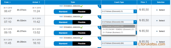 TCDDトルコ鉄道チケットの購入方法